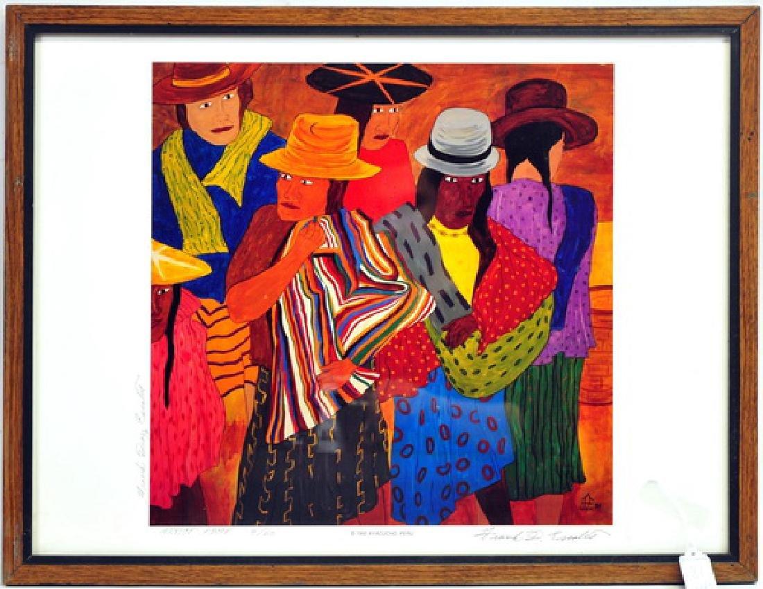 5 Frank Diaz Escalet Hand signed Framed Prints - 2