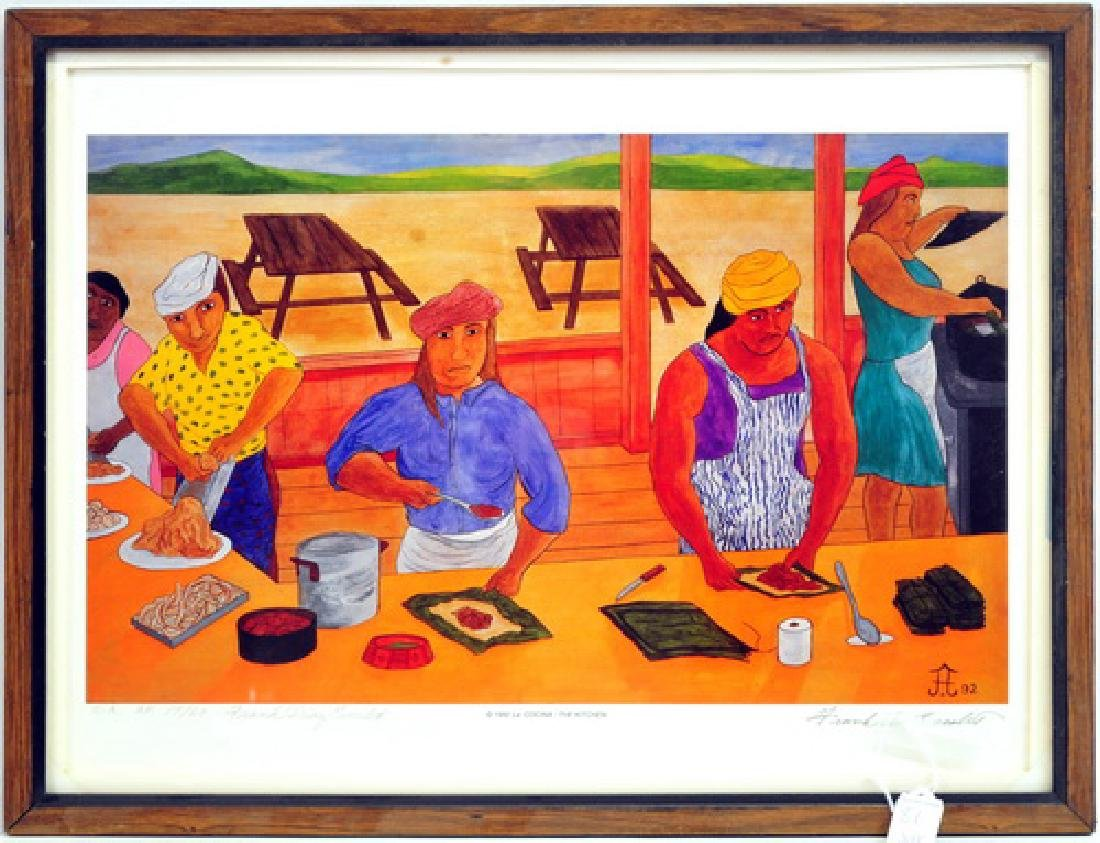 5 Frank Diaz Escalet Hand signed Framed Prints - 4