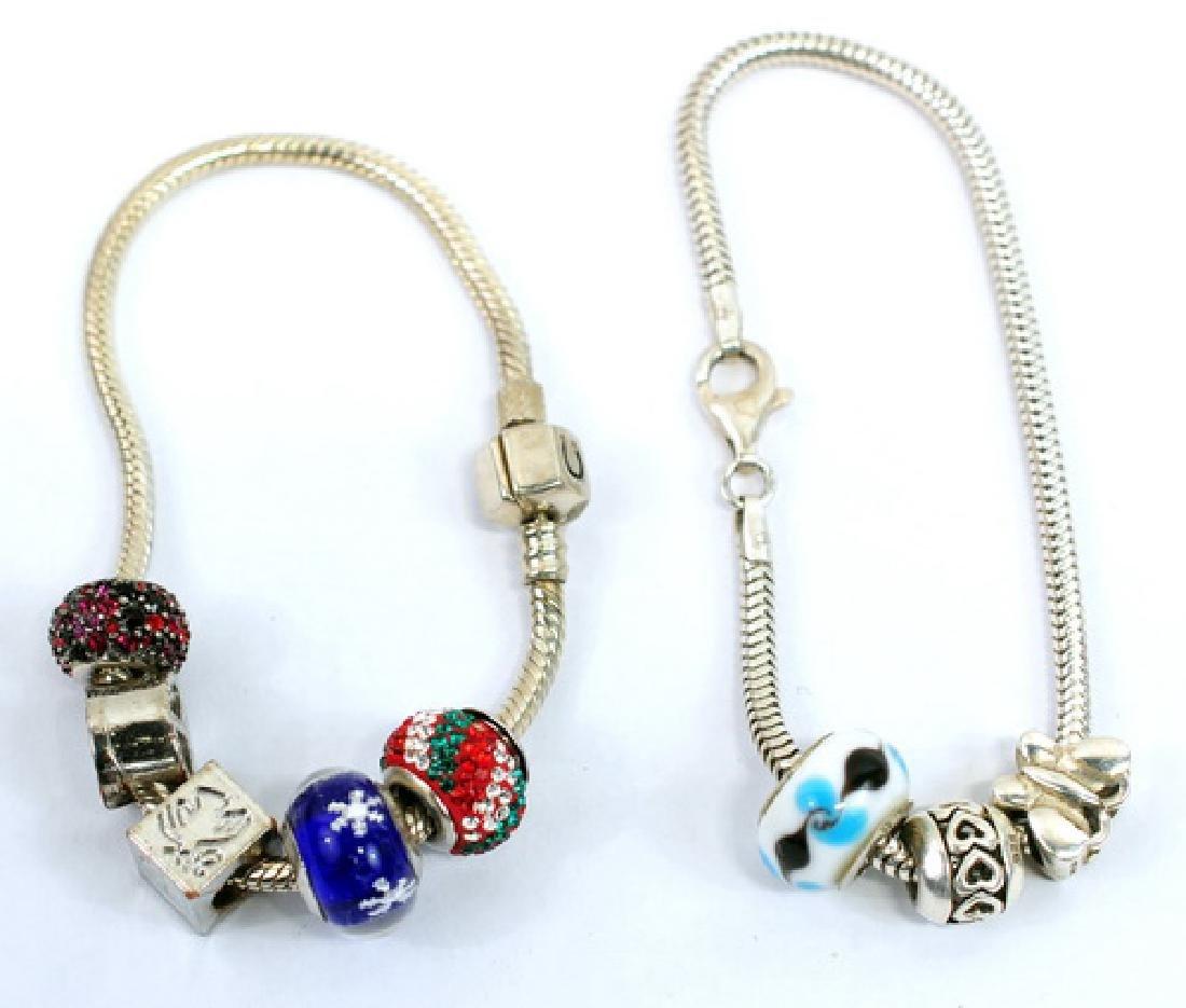 Sterling silver Bracelets & charms