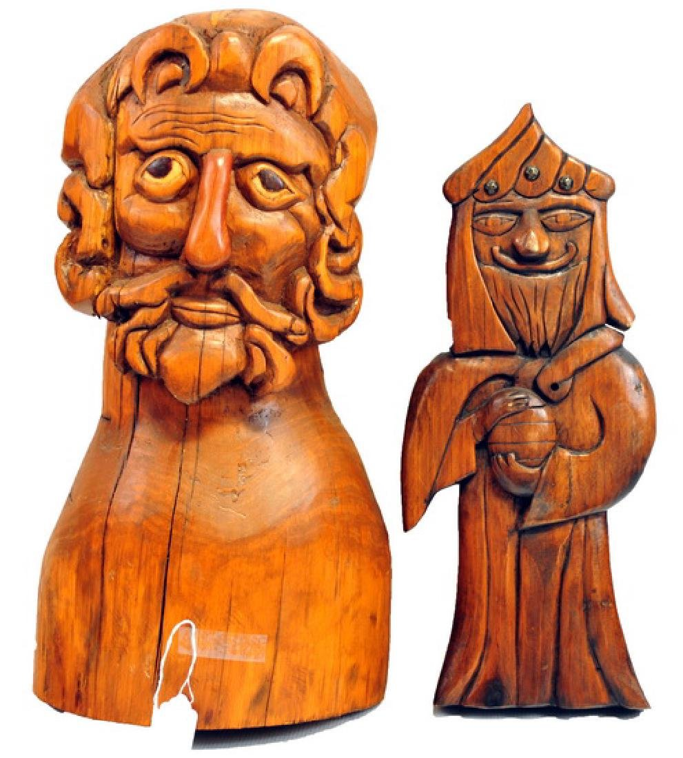 6 Hand Carved wooden pieces