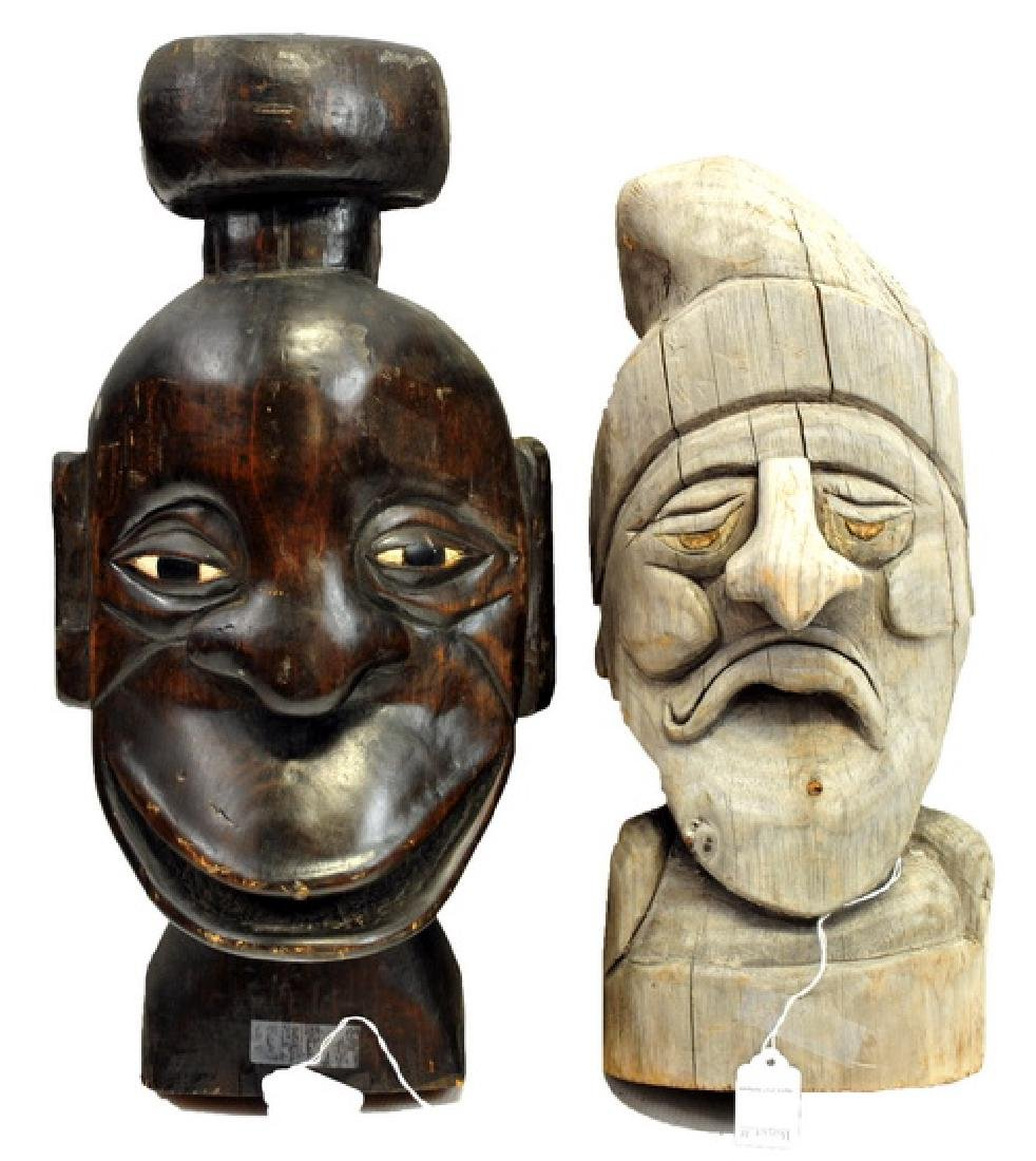 6 Hand Carved wooden pieces - 2