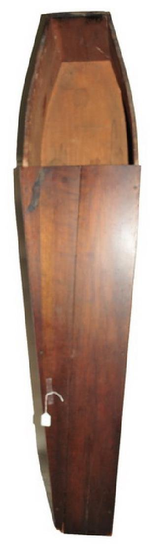 Antique Pine Viewing Coffin