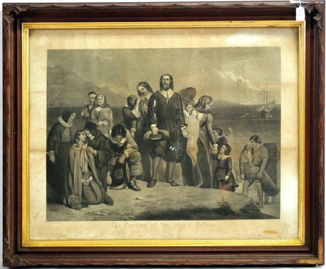 The Landing of The Pilgrim Fathers Engraving
