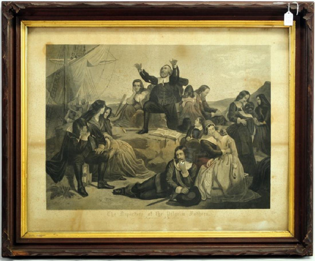 Departure of the Pilgrim Fathers Engraving