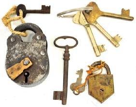 Antique 19th Century Locks and Keys
