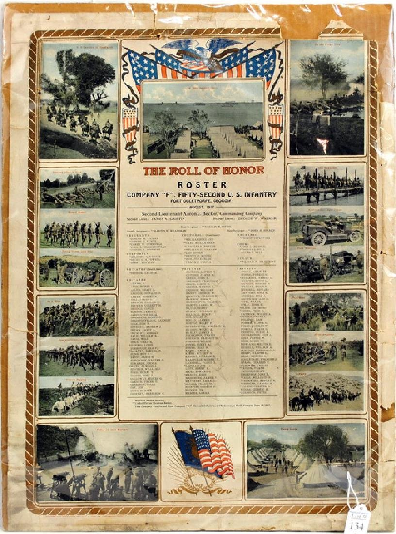 1917 52nd Infantry WWI Roll Call
