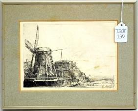 A Print of a windmill