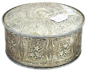 Decorative Tin Filled With Attic Buttons