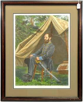 Large Colorful Print of Stonewall Jackson 25x19