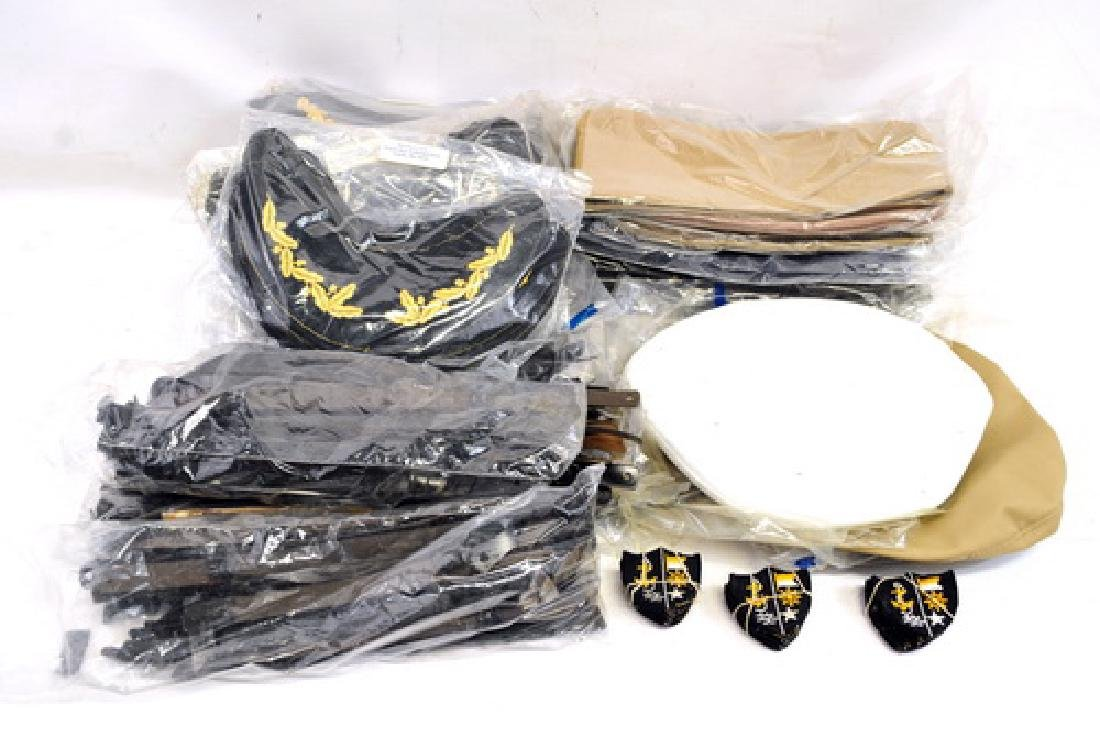 Military lot for hats to include: