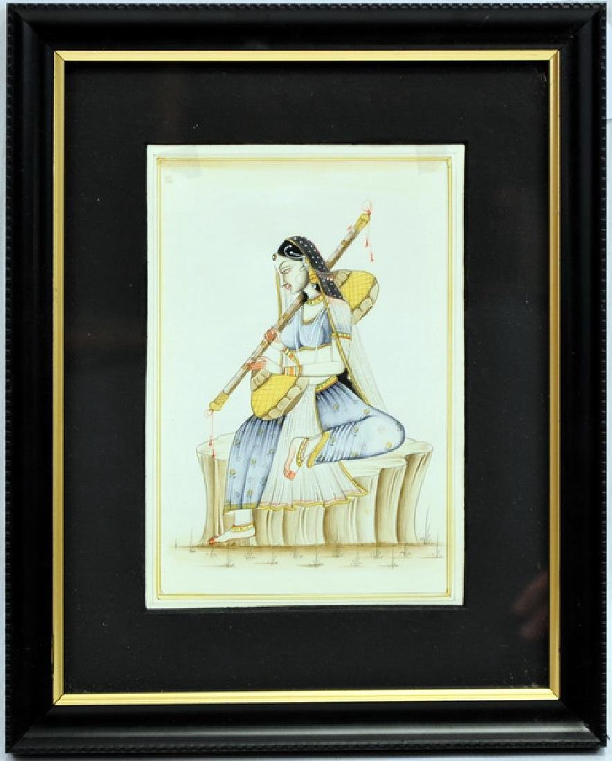 Two water colors of Indian miniature art - 2