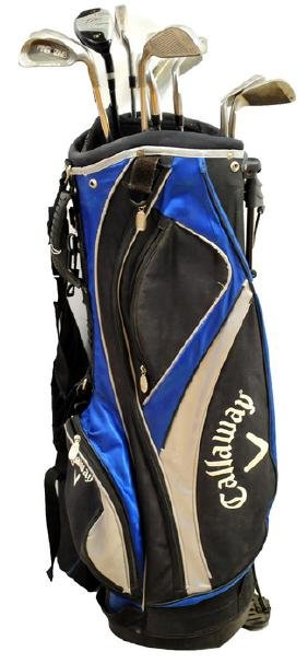 Callaway golf bag with 11 clubs