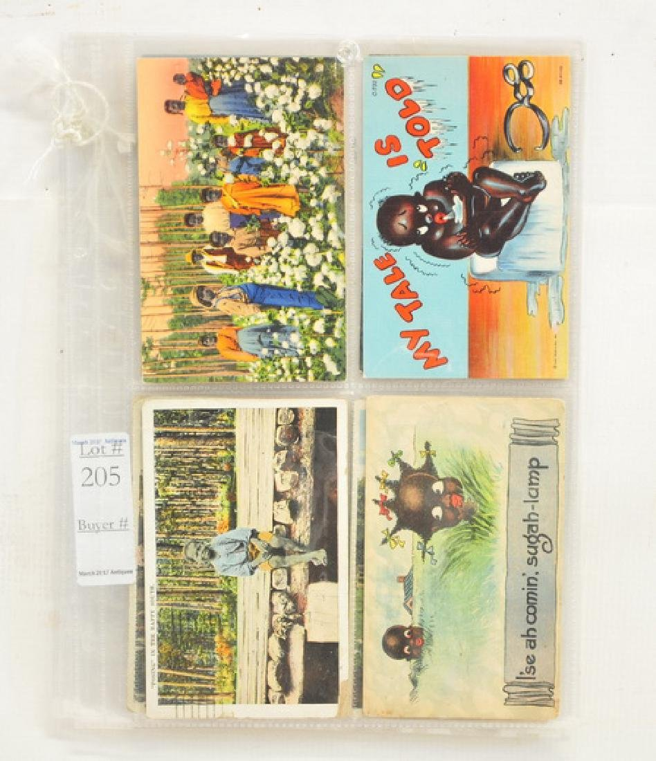 12 Black Americana Postcards Vintage/Antique - 3