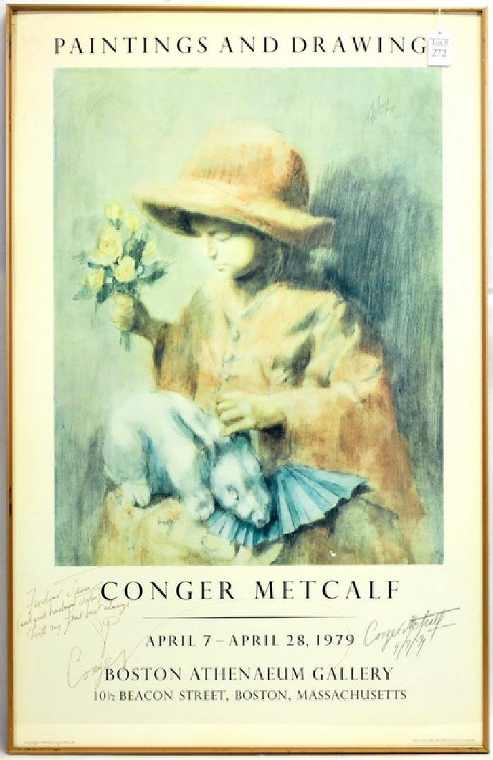 Conger Metcalf signed poster 34x22