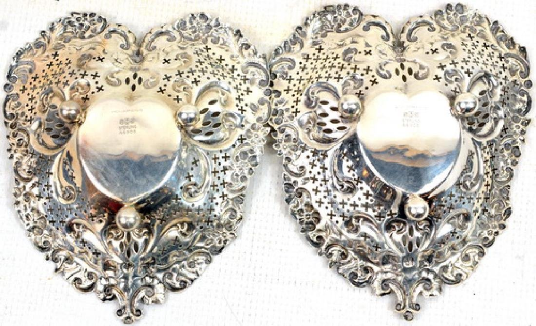 Pair of Shreve Crump and Low Sterling Heart Dishes - 2