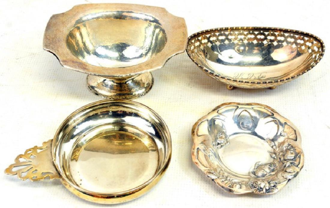 Four Sterling Silver Nut Dishes 11.45 OZT