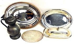 various Silver Plate Items/Pewter