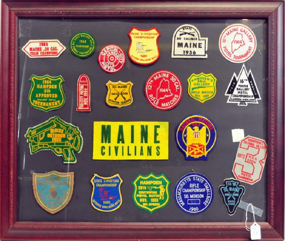 Framed Display of NRA Shooting Patches