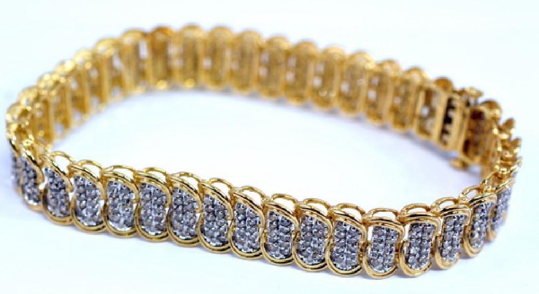 Ladies 10k Gold 4 Cttw Diamond Tennis Bracelet