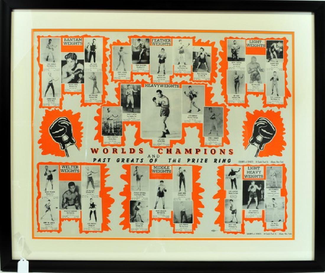1940's Boxing Framed Poster