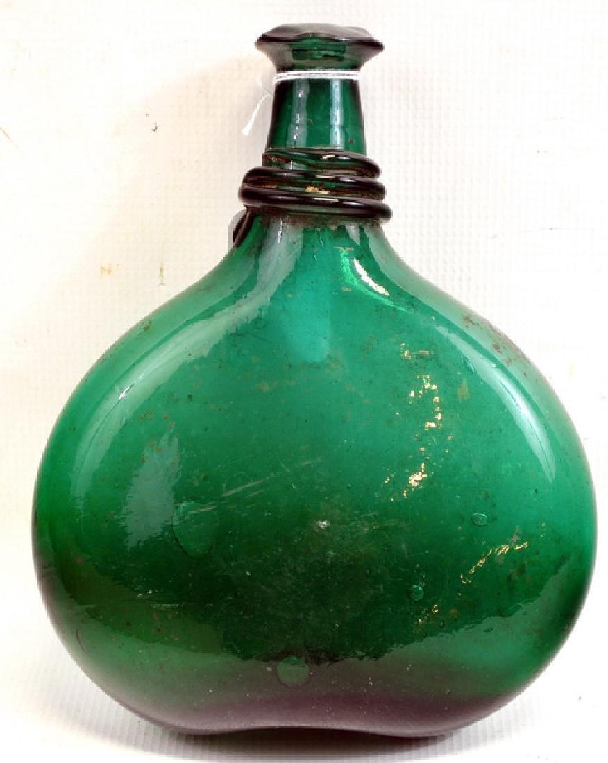 "Vintage Green Snake Twist Bottle 10"""