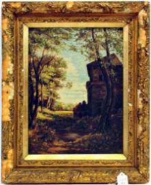 Antique Oil On Canvas Unsigned 1880's