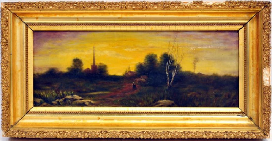 Antique Oil On Canvas By Morris Pair