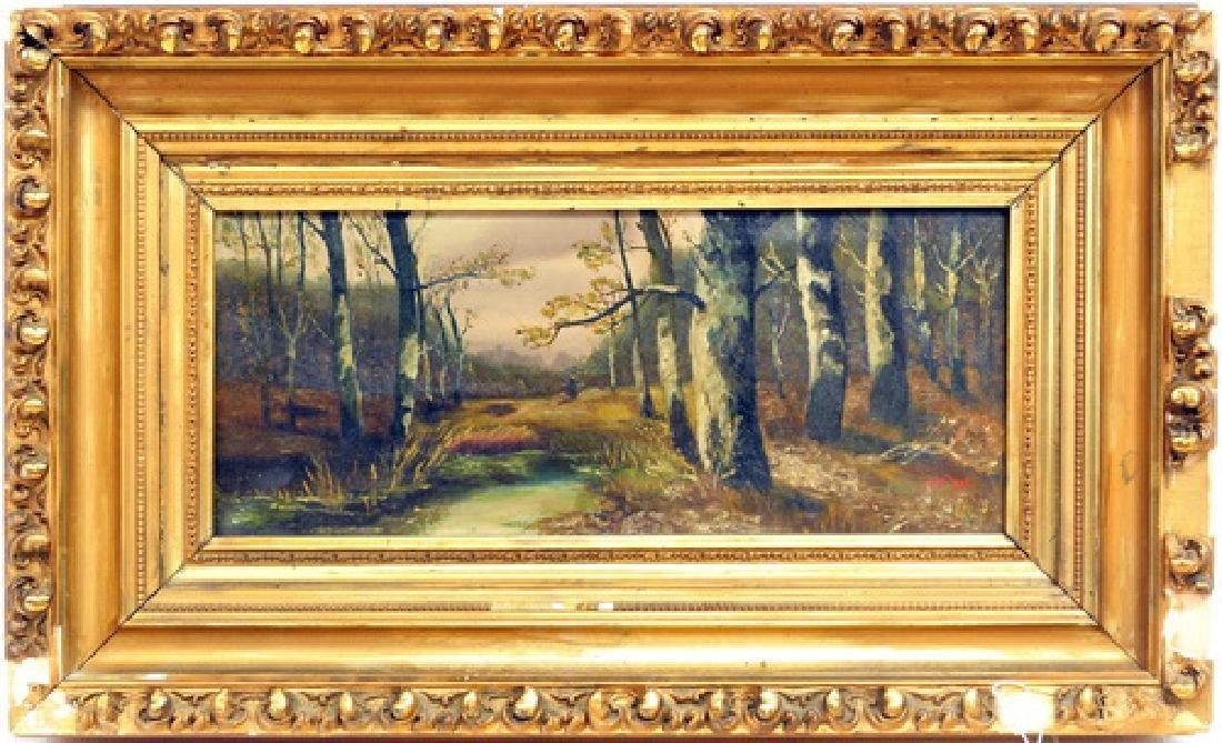 Antique Oil On Canvas signed J. Kraus 1908