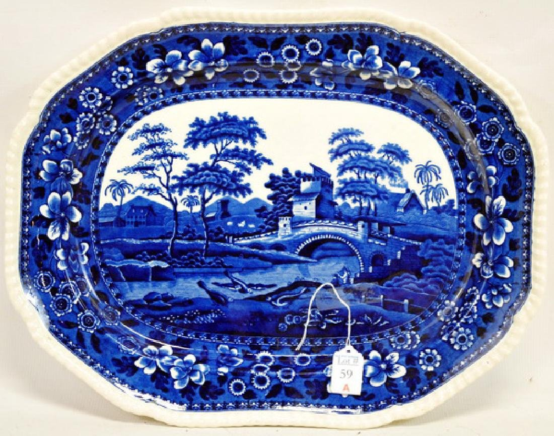 Copeland Staffordshire Flow Blue Platter