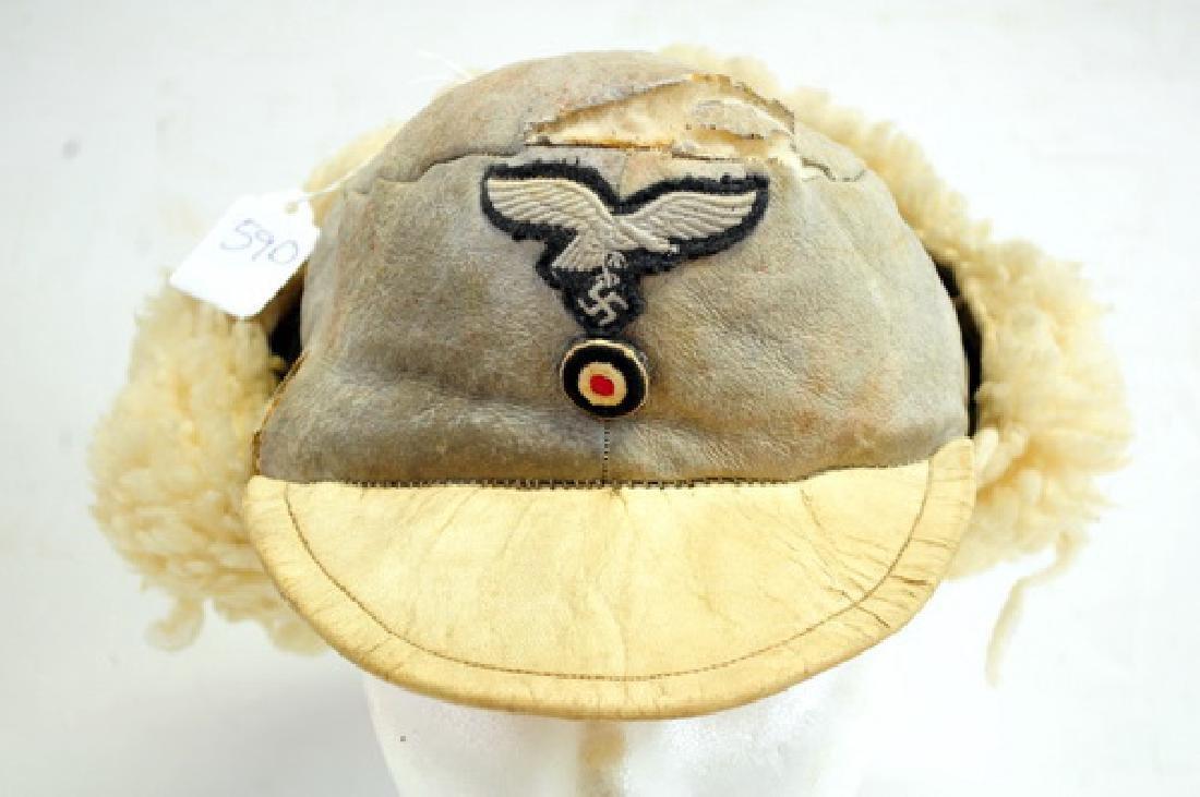 Rare WWII German Luftwaffe Winter Fur Hat