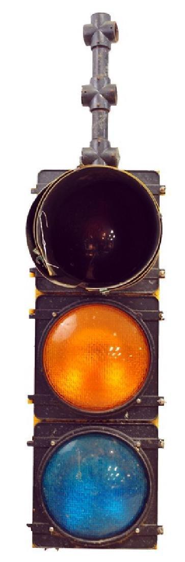Vintage Traffic Light on Post