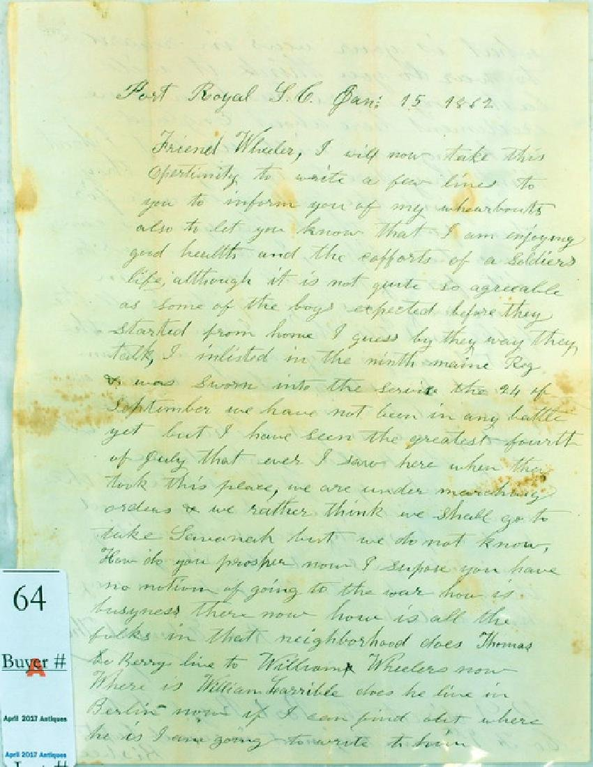 9th Maine Battlefield Letter