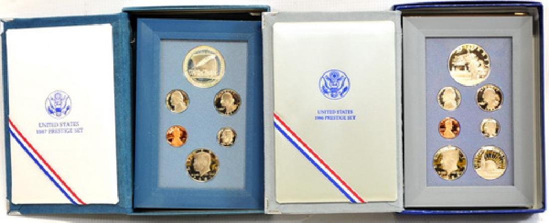 4-u.s. Mint Prestige Proof Coin Sets 83 86 87 89