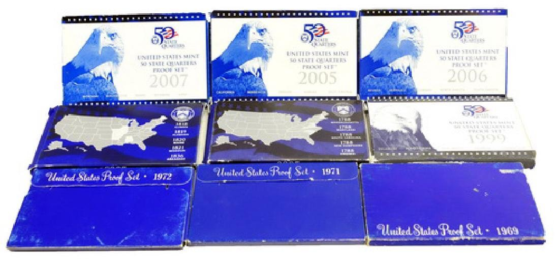 20- U.s. Mint Proof Coin Sets From The 80'-2007