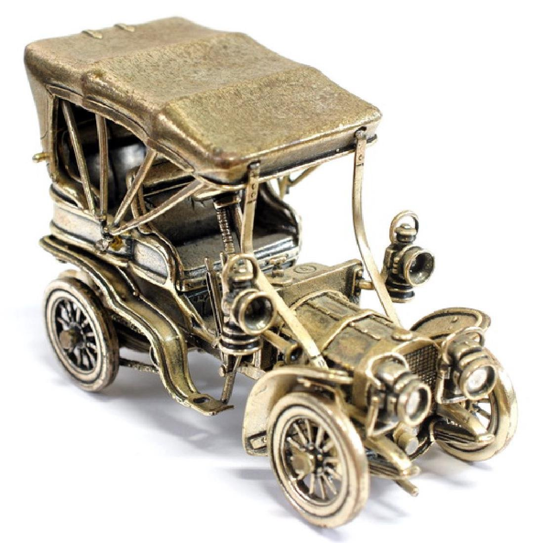 (2) Franklin Mint Sterling Silver Collectible Cars