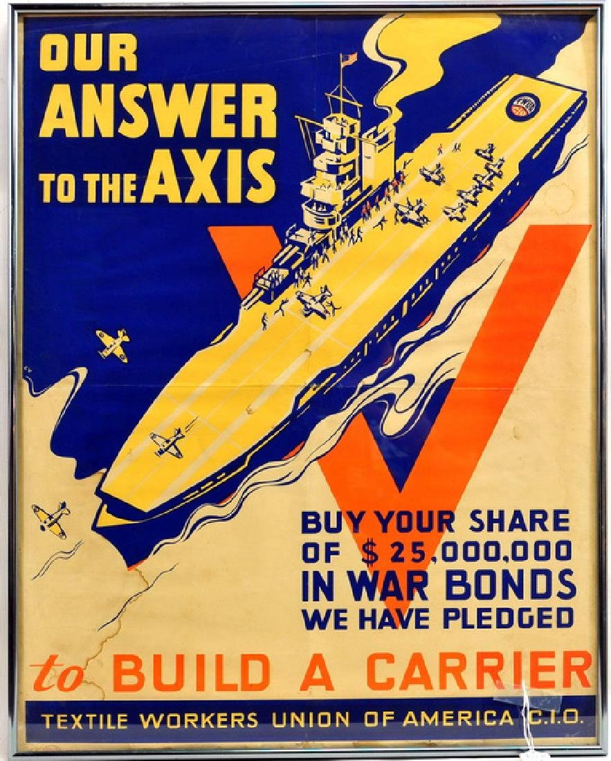 """Original WWII Poster """"To Build a Carrier"""""""