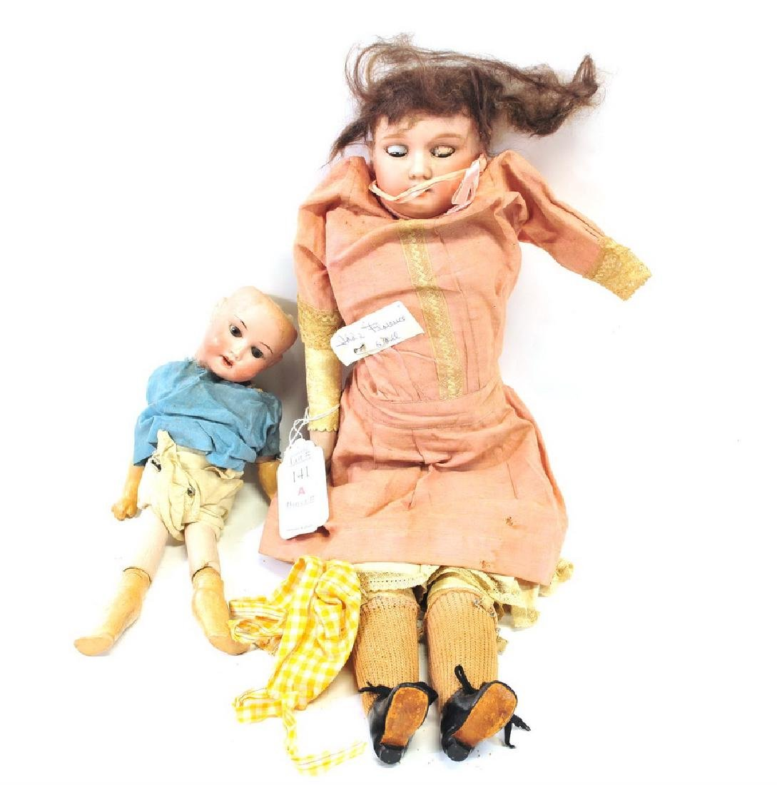 Two Antique German  Dolls