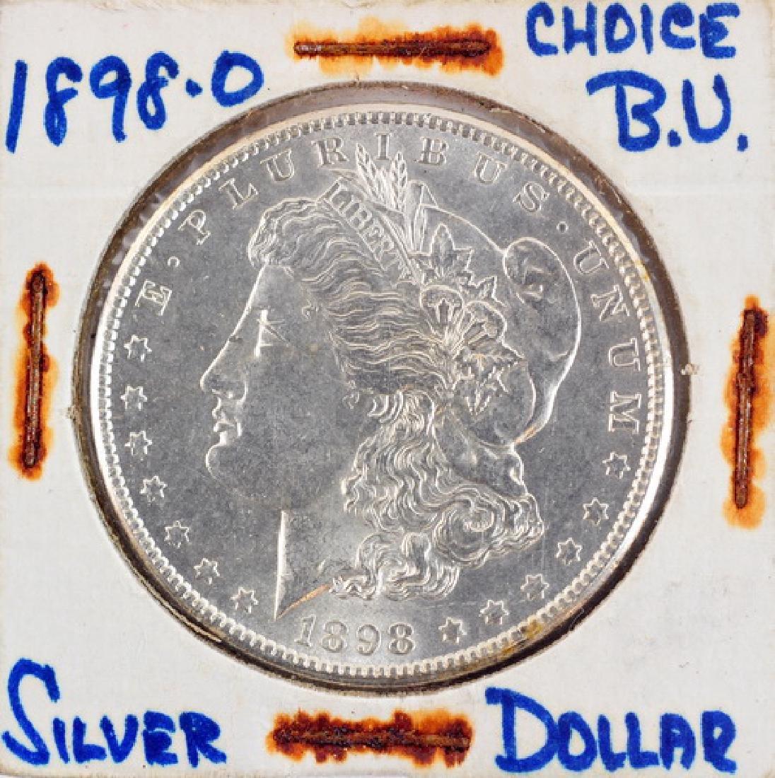 Three 1898 Morgan Silver Dollars P,O,S