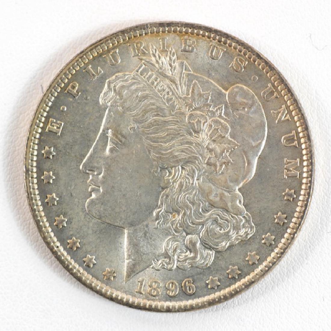 Three 1896 Morgan Silver Dollars P, O, S