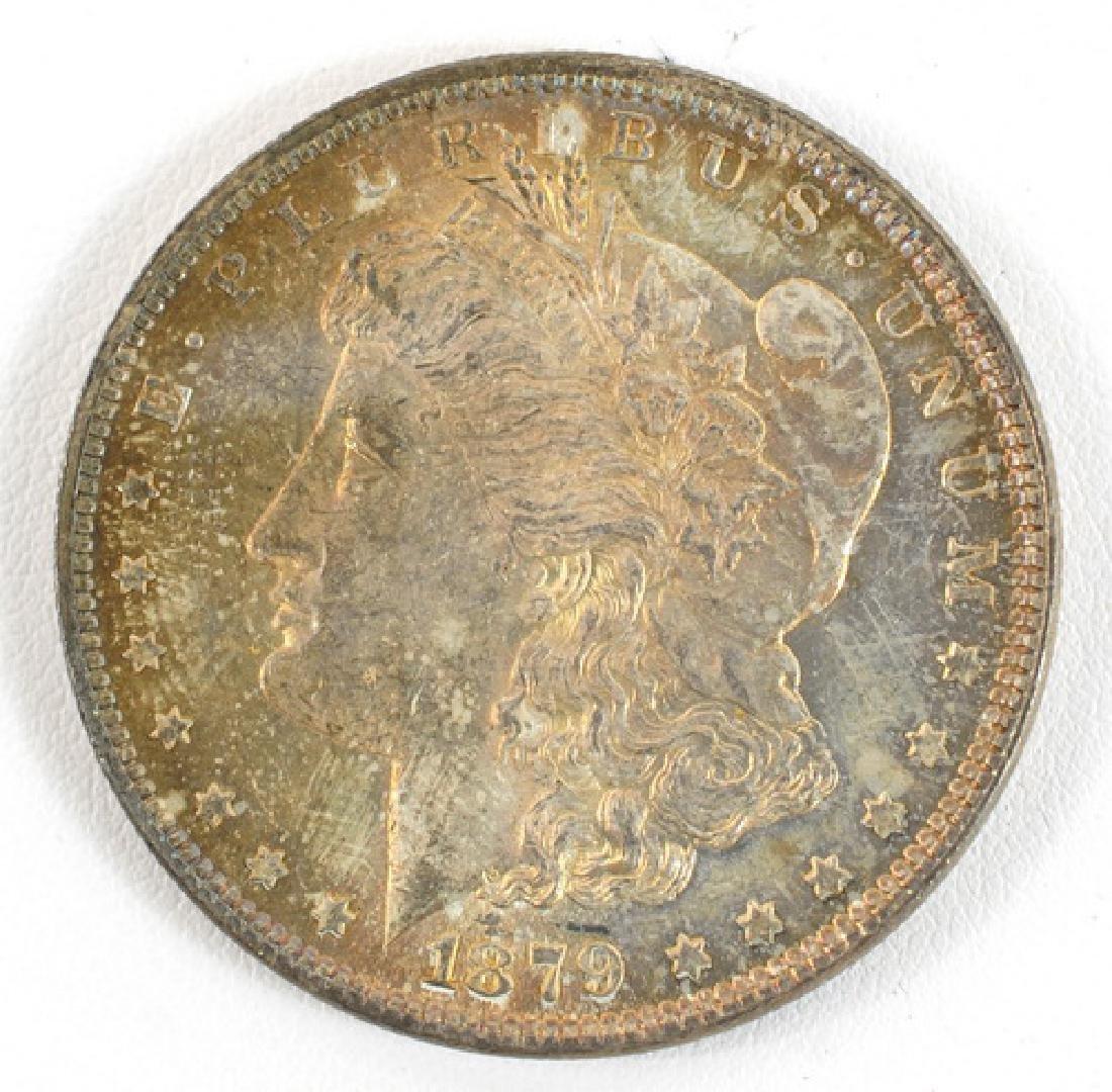 Three 1879 Morgan Silver Dollars P, O, S