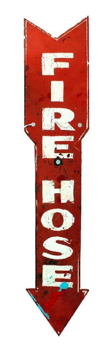 Metal Firehose Arrow Sign