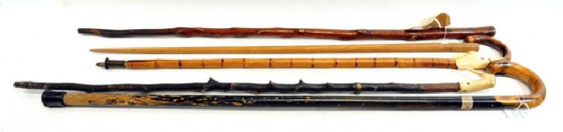 5 Bowdoinham Maine Estate Canes/Walking Sticks