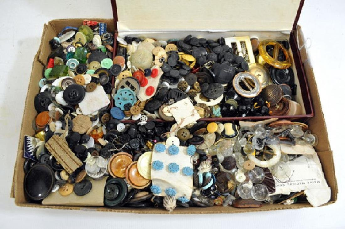 Antique Attic Buttons, Full box, unpicked