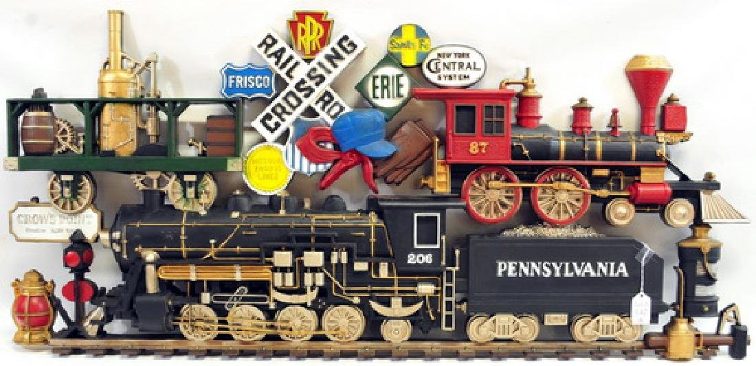 Railroad Train Wall Hanging 502 By Burwood Producs