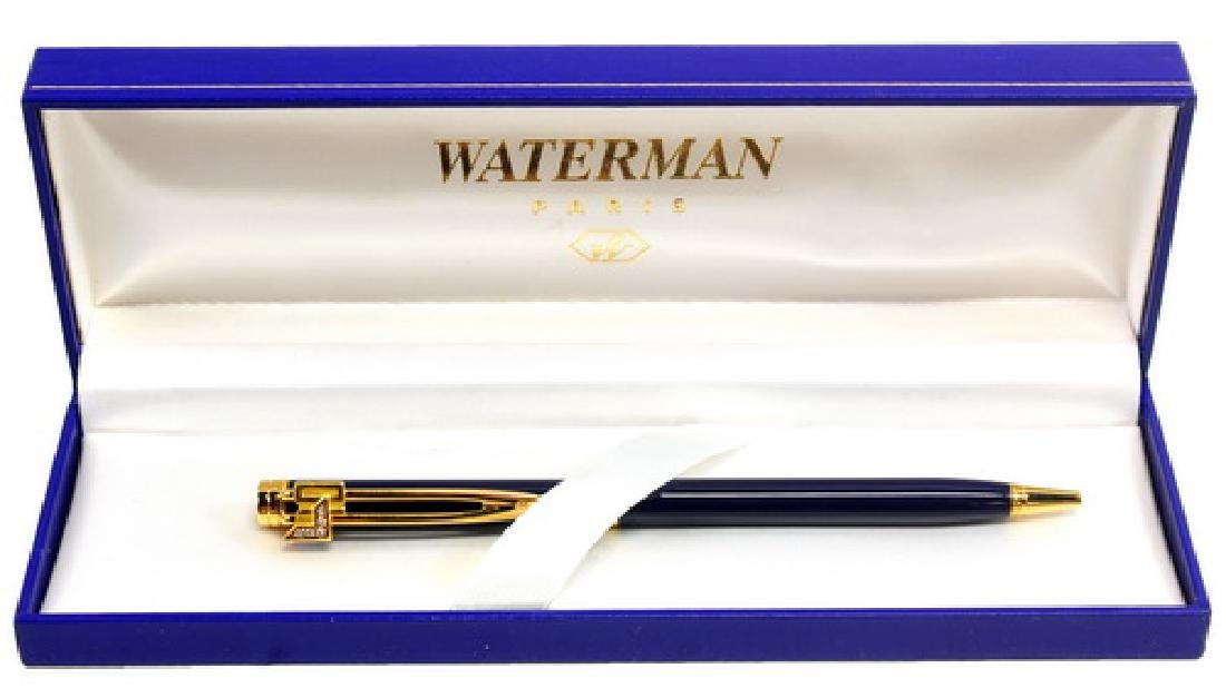 Waterman Paris Blue And Gold Ball Point Pen