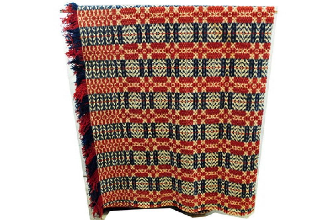 Red White and Blue Vintage Coverlet