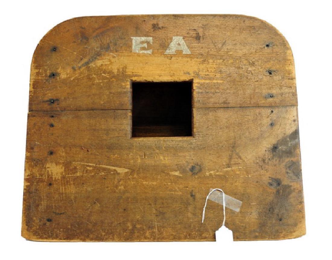 Antique Erskine Academy Corn hole Game Board