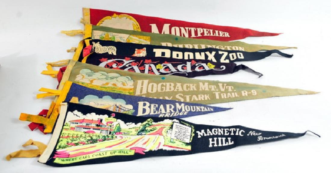 25 Estate Felt Pennants 1940's and 50's