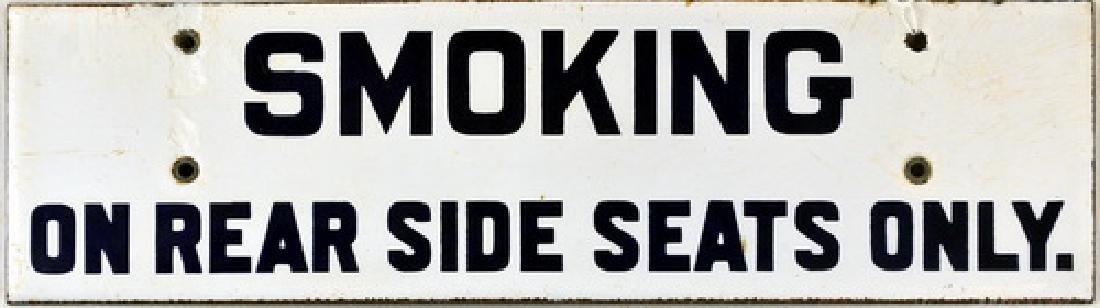 Original Porcelain Trolley Car Sign
