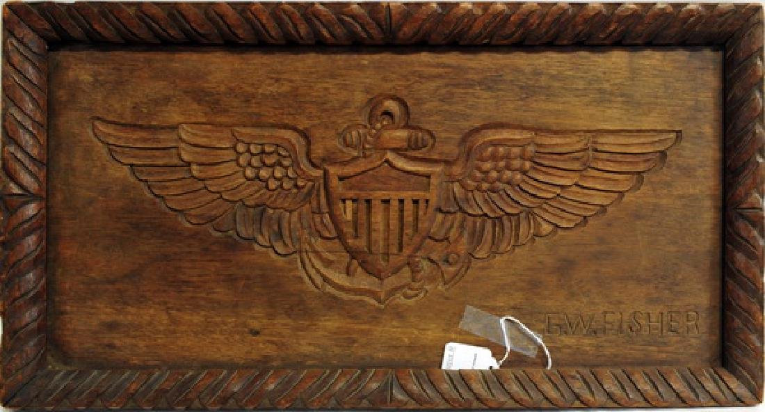 US Navy Carved and Named Service Tray